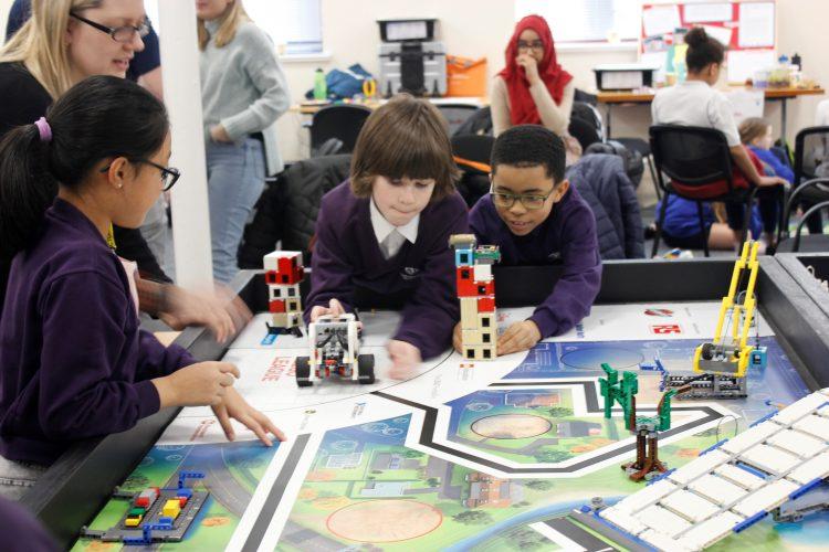 Children participating in Whirlpool UKs 2020 FIRST LEGO League tournament in Peterborough
