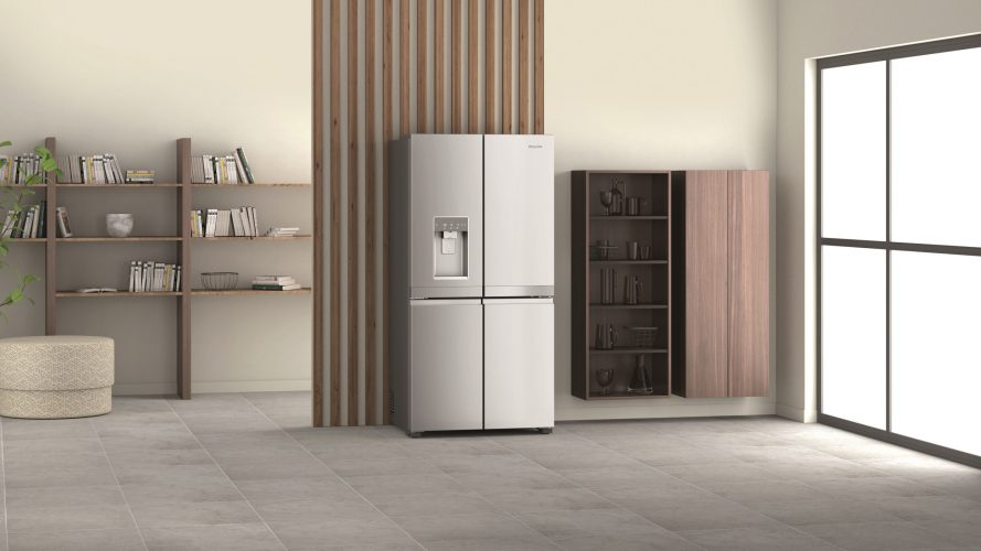 Hotpoint Active Four Door fridge freezer HQ9I MO1L UK lifestyle