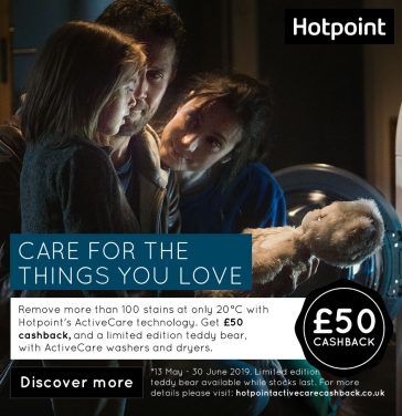 Hotpoint Launches Laundry Cashback and Free Gift Promotion