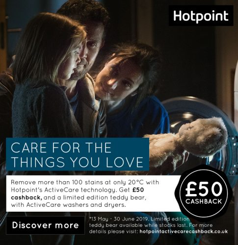 Hotpoint ActiveCare promotion