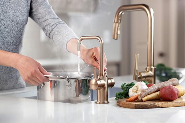 InSinkErator FHC3020BB - Brushed Bronze - lifestyle -lo