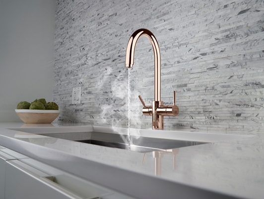InSinkErator J Shape 3N1 Steaming Hot Water Tap in Rose Gold - lifestyle - Low