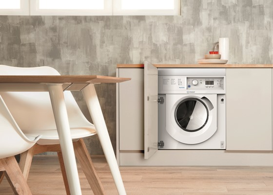 Indesit Push&Go built-in 7 kg washing machine BI WMIL 71452 UK - lifestyle - hi - Low
