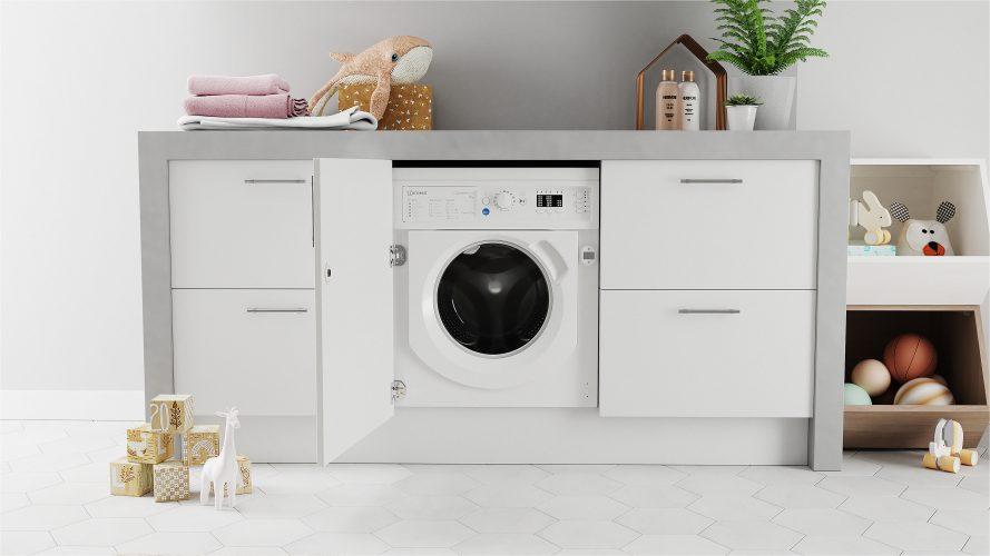 Indesit integrated Push&Go 9 kg washing machine BI WMIL 91484 UK - lifestyle