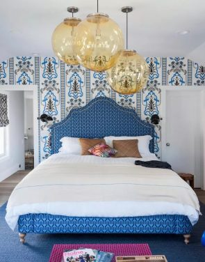 Bedroom Lighting and Floral Decor
