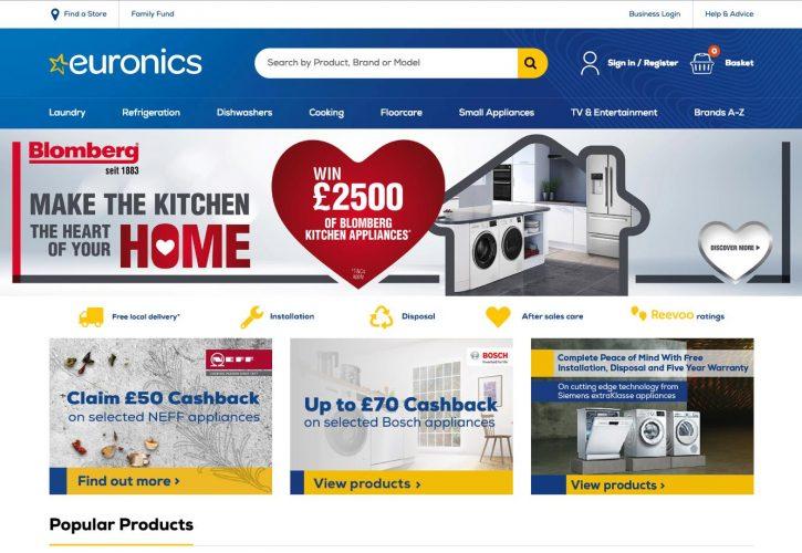 New Euronics Website - February 2019