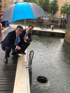Rt Hon Liam Fox MP Visits Whirlpool Seabin in Portishead