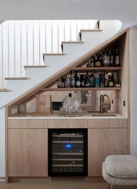 Under Stairs and Pastel Kitchens