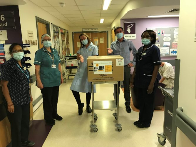 Whirlpool UK Donated Appliances to NHS Hospital and Charities